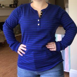 Ralph Lauren Blue & Black Striped Shirt